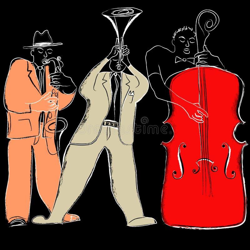 De band van de jazz vector illustratie