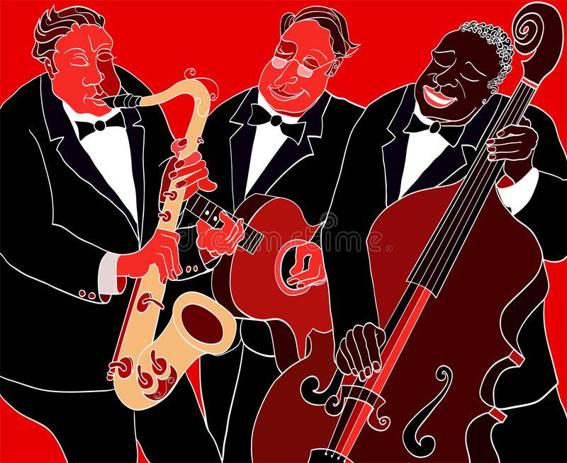 De band van de jazz vector illustratie
