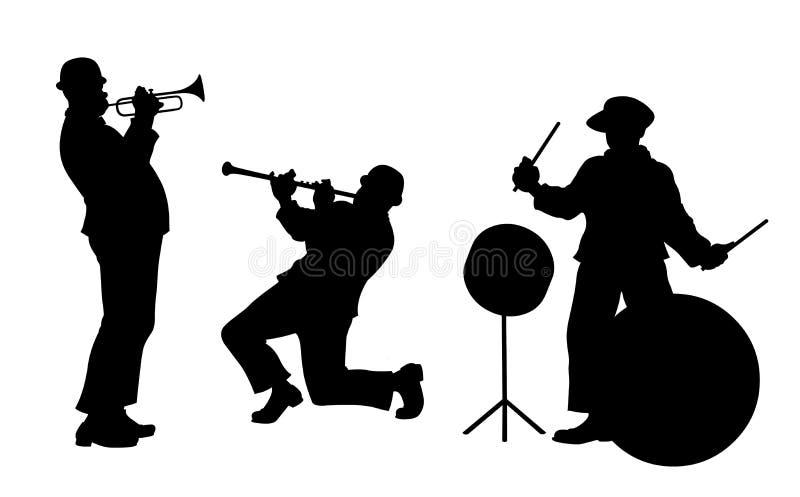 De band van de jazz royalty-vrije illustratie