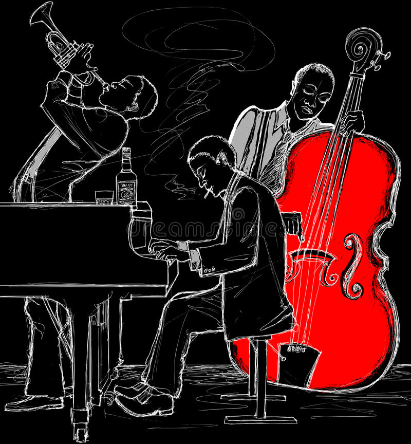 De band van de jazz stock illustratie