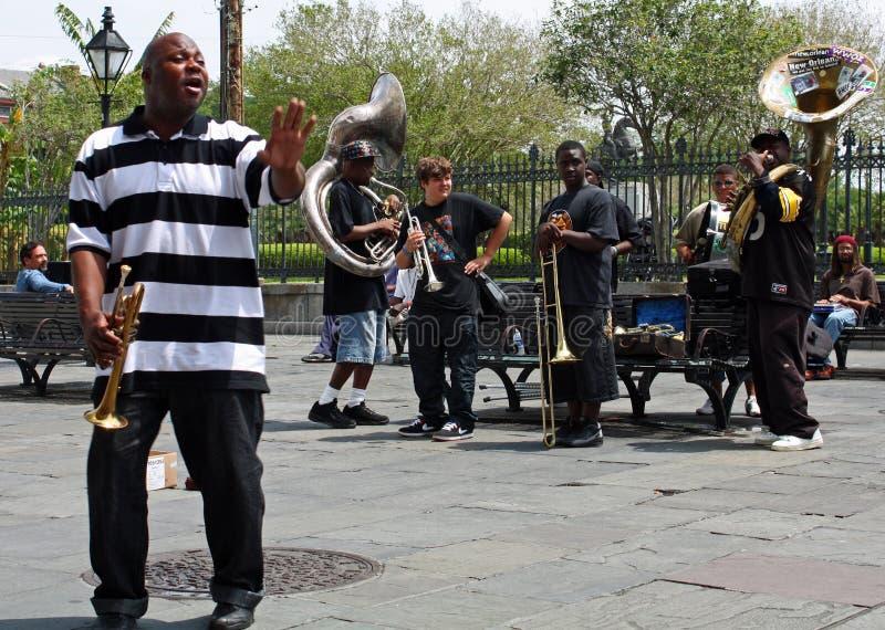 De Band van de Jazz van New Orleans royalty-vrije stock fotografie
