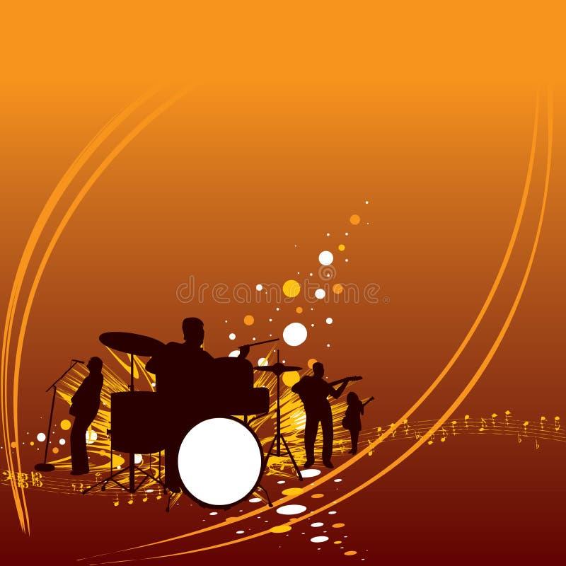 Download De band van de muziek vector illustratie. Afbeelding bestaande uit spel - 3210885