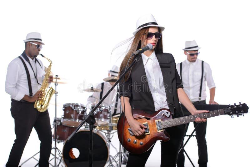 De band van de muziek stock afbeeldingen