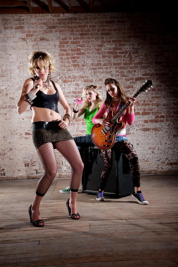 De Band van de punkmuziek stock foto