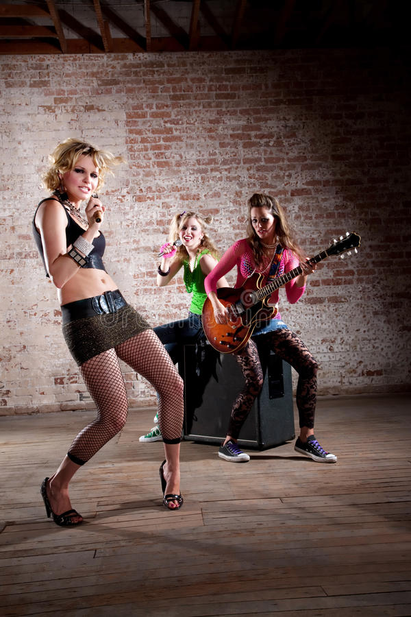 De Band van de punkmuziek stock afbeeldingen