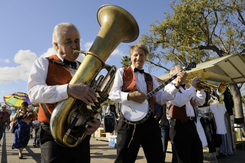 De band van Gras van Mardi royalty-vrije stock foto's