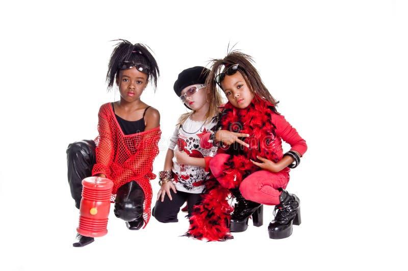 De Band van het meisje royalty-vrije stock afbeeldingen