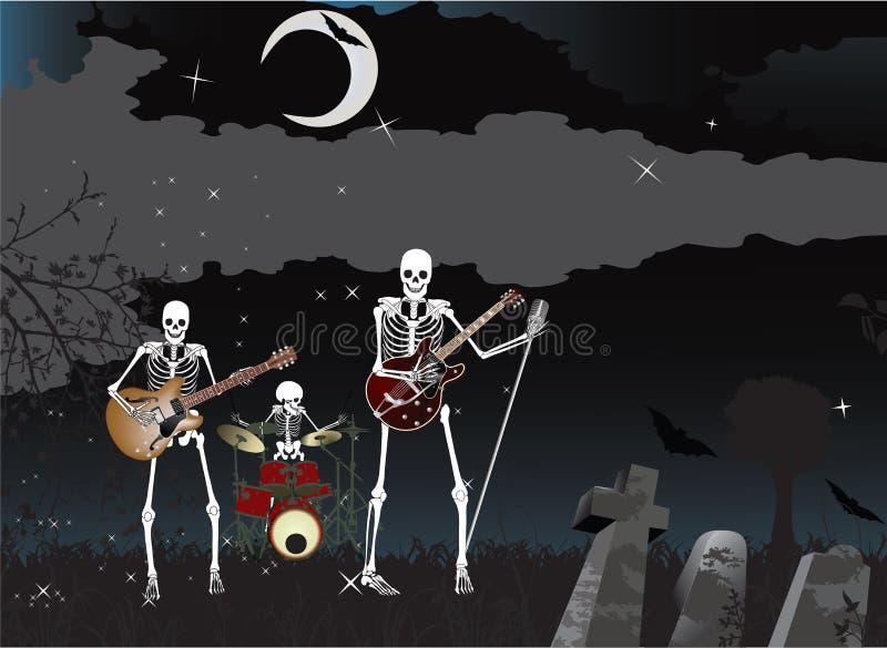 De Band van het skelet royalty-vrije illustratie