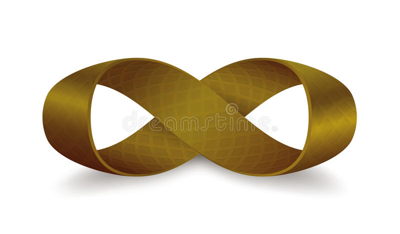 De band van Mobius met 360 graden omwentelings royalty-vrije illustratie