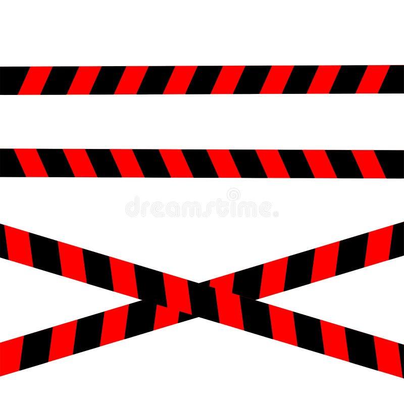 De band van de de voorzichtigheidsgrens van de politiestreep stock illustratie