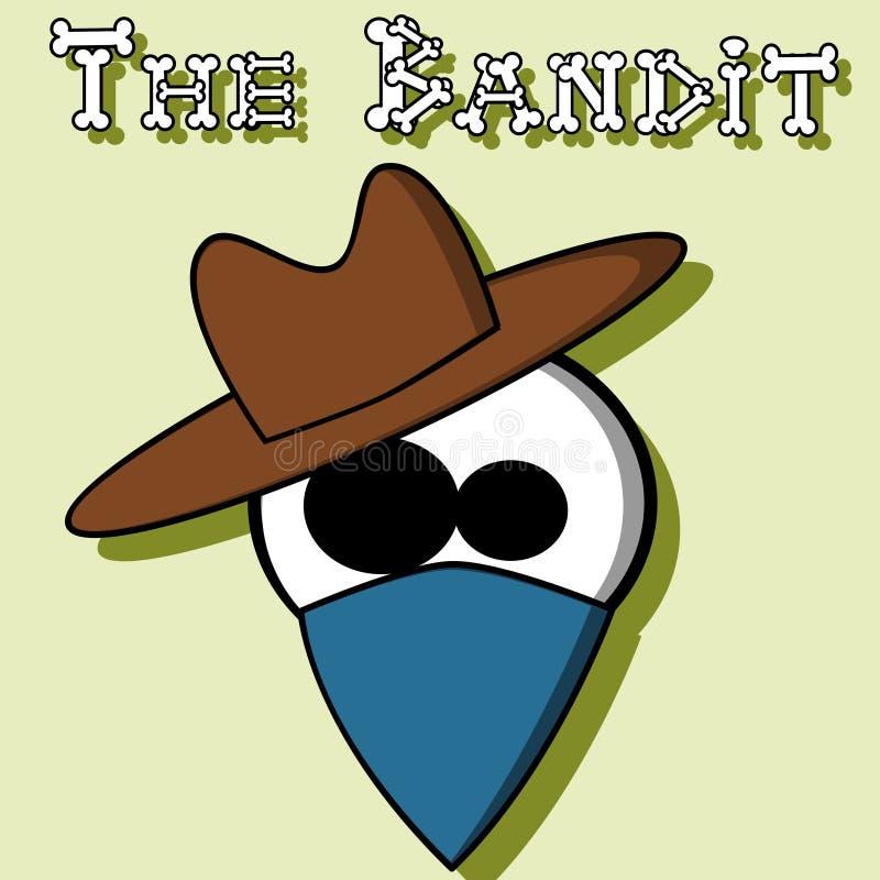 De bandiet royalty-vrije illustratie