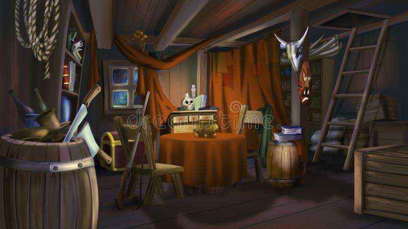 De bandieten huisvesten royalty-vrije illustratie
