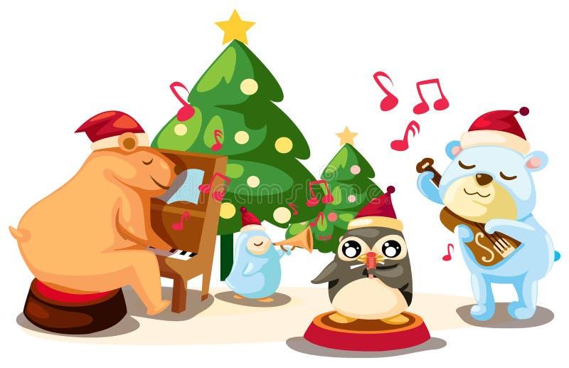 De bandmuziek van dieren royalty-vrije illustratie