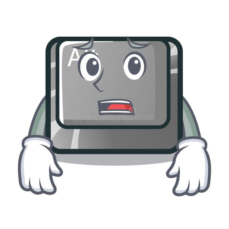 De bange alt-karakterknoop maakte het toetsenbord vast stock illustratie