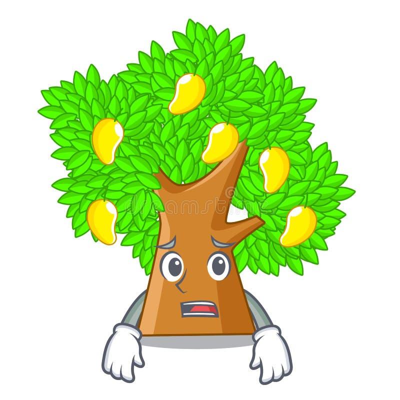 De bange boom van de karaktermango naast het huis royalty-vrije illustratie