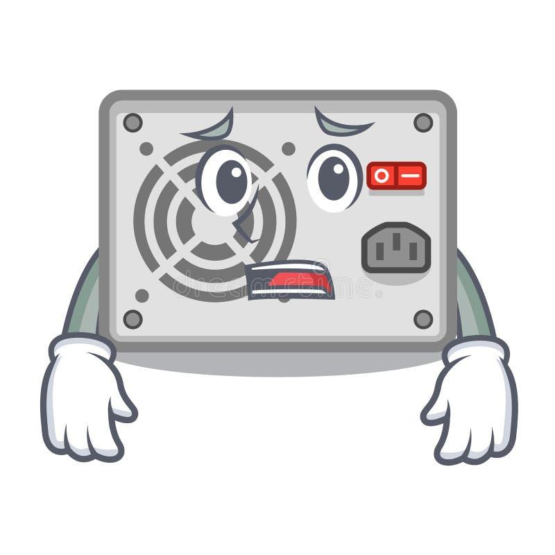 De bange stokken van de mascottevoeding aan PC royalty-vrije illustratie