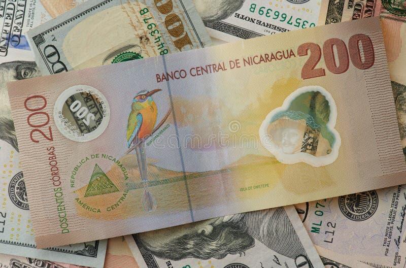 De bank centraal thema van Nicaragua royalty-vrije stock afbeelding