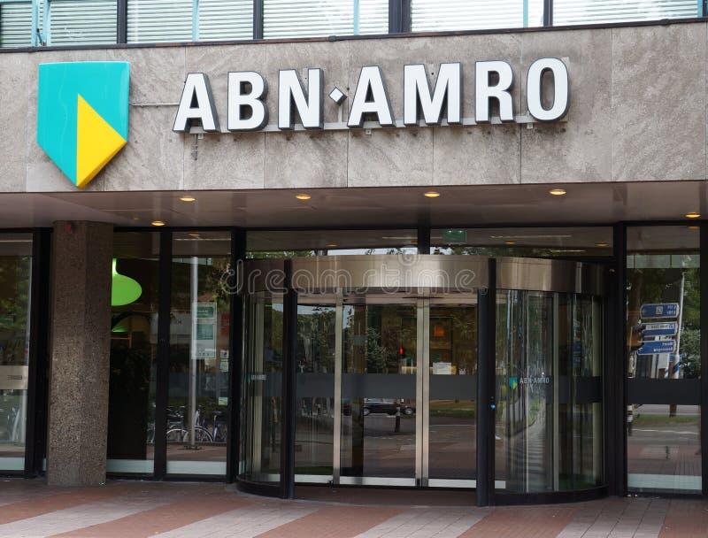De bank van ABN Amro in Nederland stock foto's