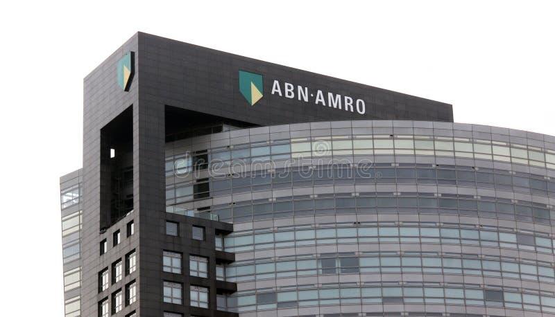De bank van Abnamro in Amsterdam royalty-vrije stock afbeelding