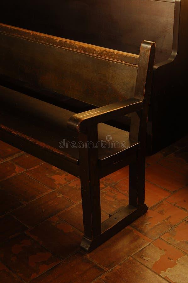 De Bank van de kerk royalty-vrije stock afbeeldingen