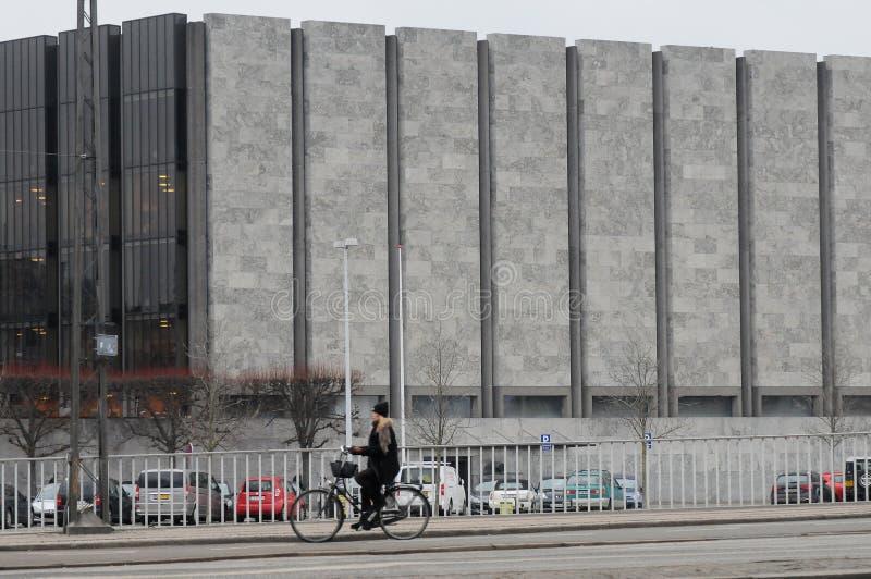 DE BANK VAN DENEMARKEN 'S NANTIONAL IN KOPENHAGEN DENEMARKEN royalty-vrije stock foto