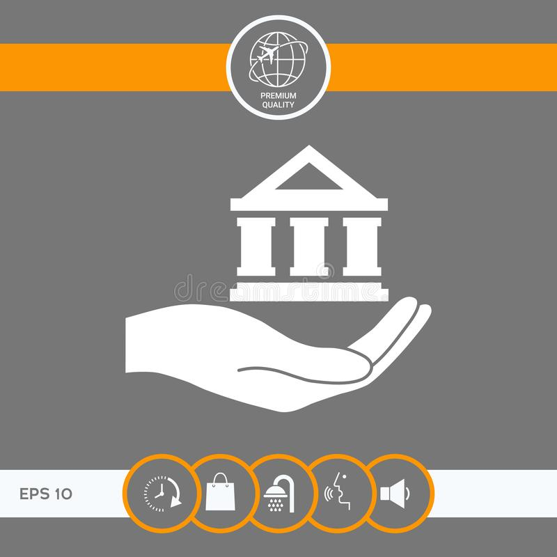 De bank van de handholding royalty-vrije illustratie