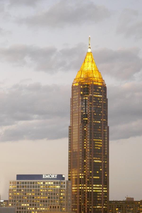 De bank van het Plein van Amerika is een wolkenkrabber in Atlanta wordt gevestigd dat royalty-vrije stock afbeelding