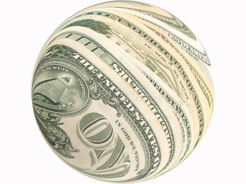 De bankbiljettenconcept van de dollar stock afbeeldingen