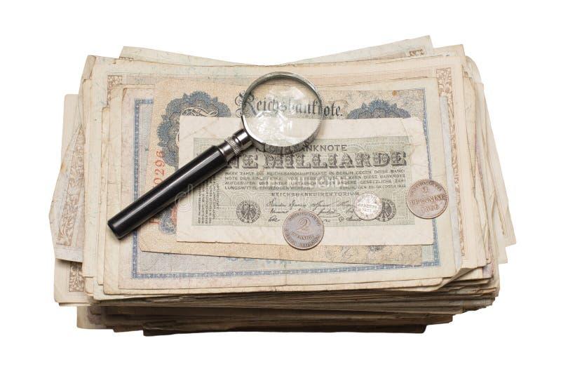 De Bankbiljettentoekenning van Collectiblesmuntstukken stock afbeelding