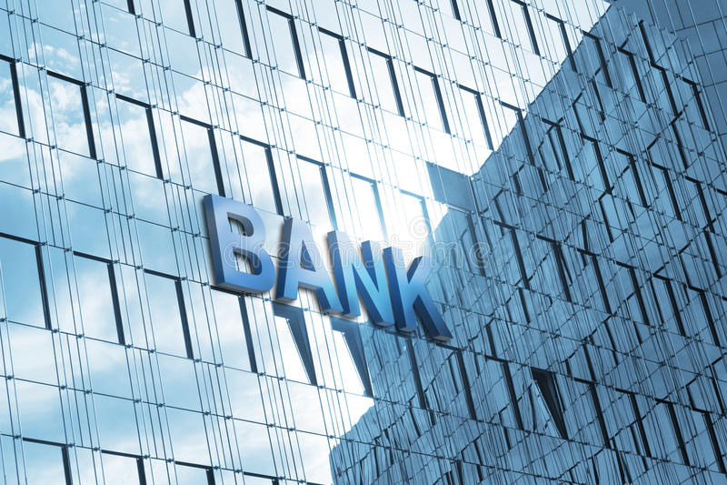 De bankbouw royalty-vrije stock afbeeldingen