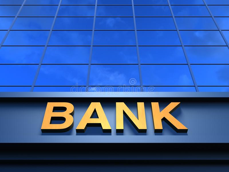 De bankbouw stock afbeeldingen