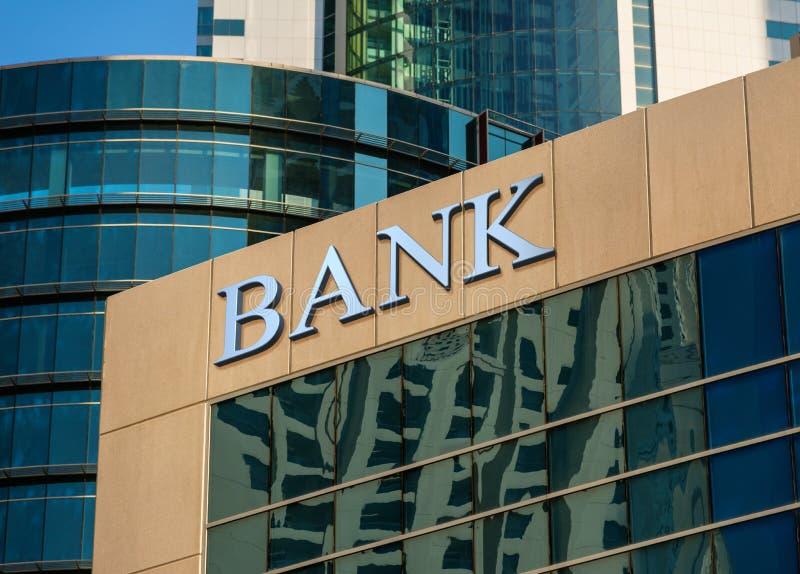 De bankbouw stock foto