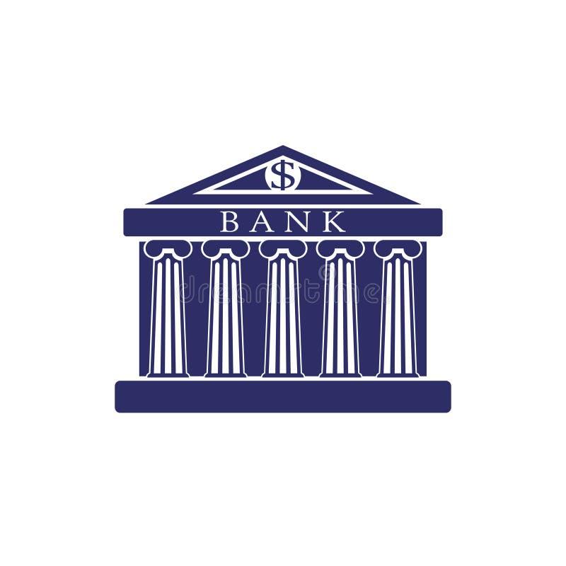 De bankbouw Teken De klassieke Roman architectuur van Griekenland vector illustratie