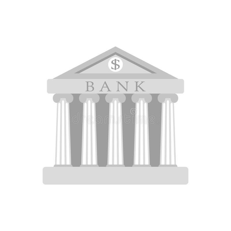 De bankbouw Teken De klassieke Roman architectuur van Griekenland royalty-vrije illustratie