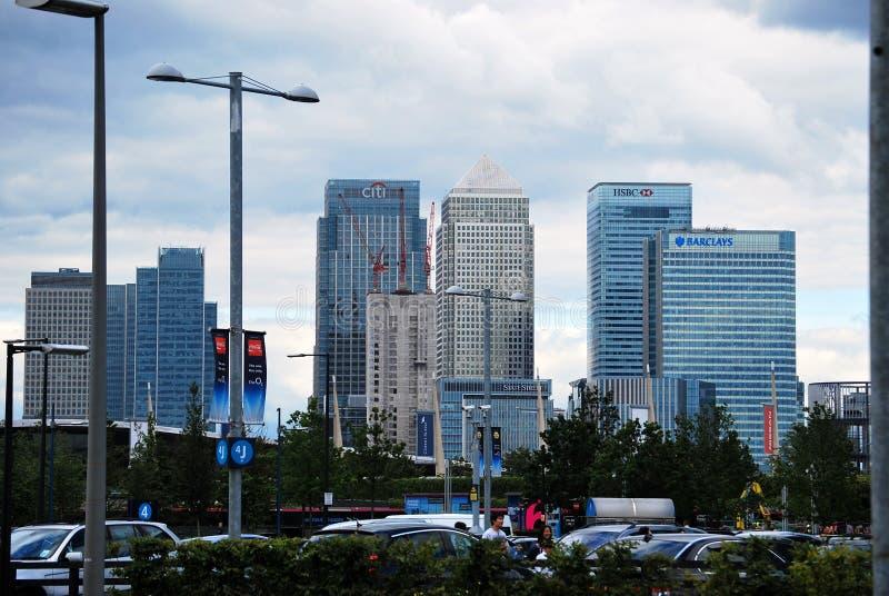 De Banken van de stad die van Noord-Greenwich worden gezien royalty-vrije stock foto's