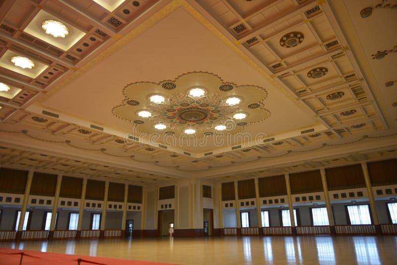 De Banketzaal in de Grote zaal van de mensen in Peking, China royalty-vrije stock foto