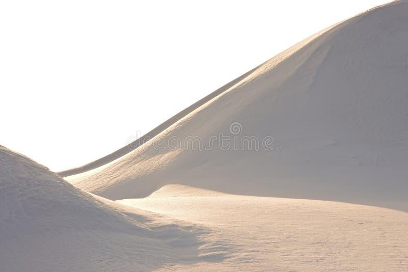De banksamenvatting van de sneeuw stock fotografie