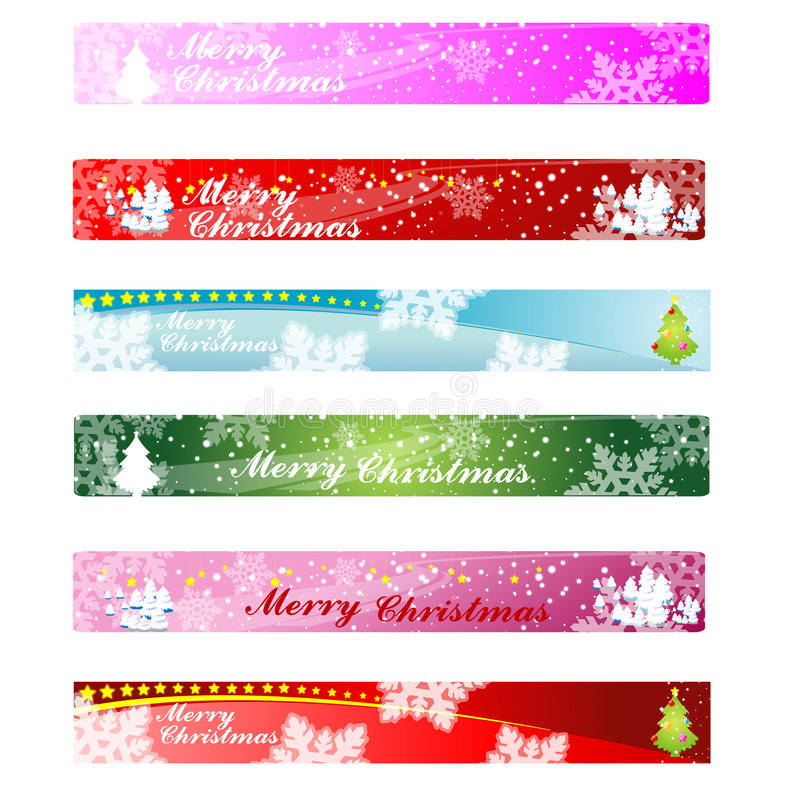 De Banner 468&60 van het Web van Kerstmis royalty-vrije illustratie