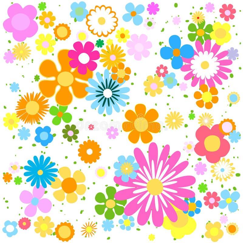 De Banner van bloemen Background stock illustratie