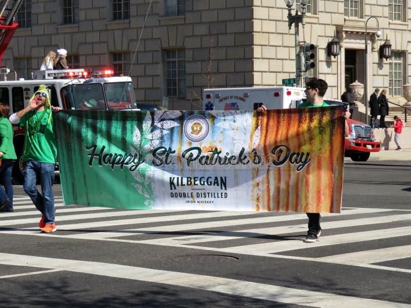 De Banner van de de Dagparade van heilige Patrick ` s royalty-vrije stock fotografie