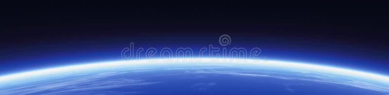 De banner van de horizon en van de wereld royalty-vrije illustratie