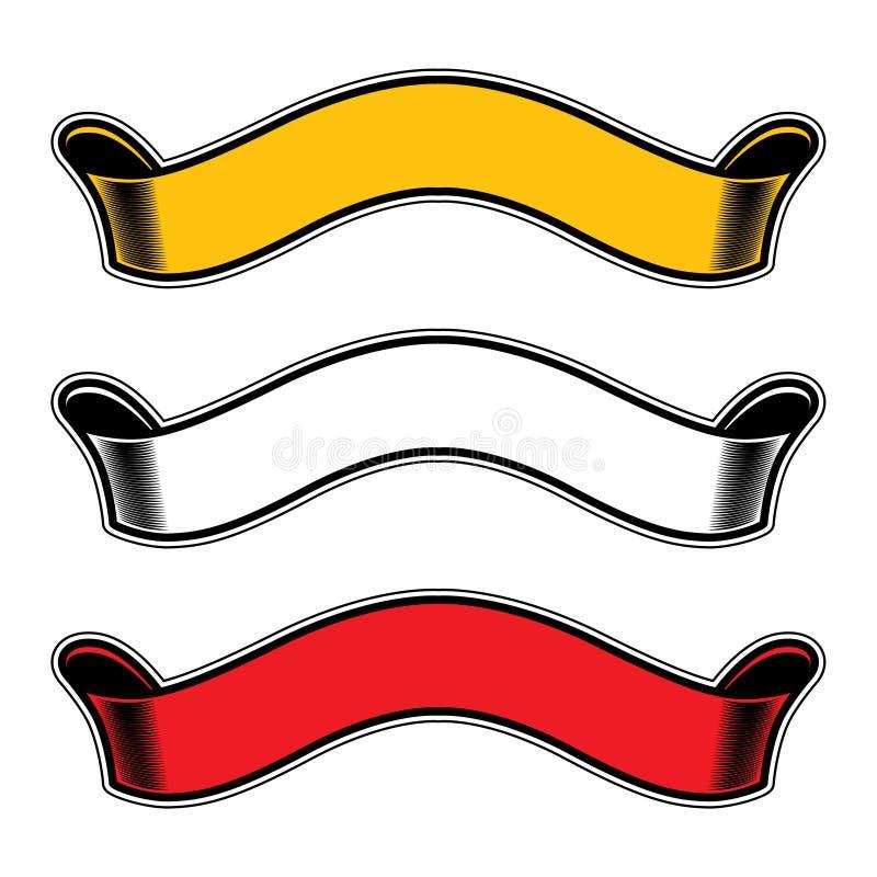 De banner van de lintenrol stock illustratie