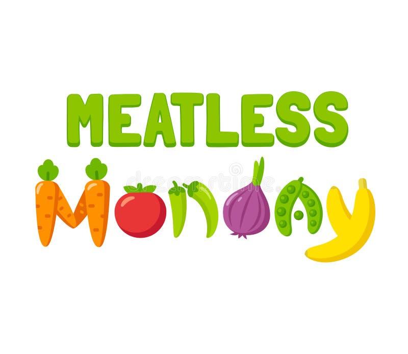 De Banner van de Meatlessmaandag stock illustratie