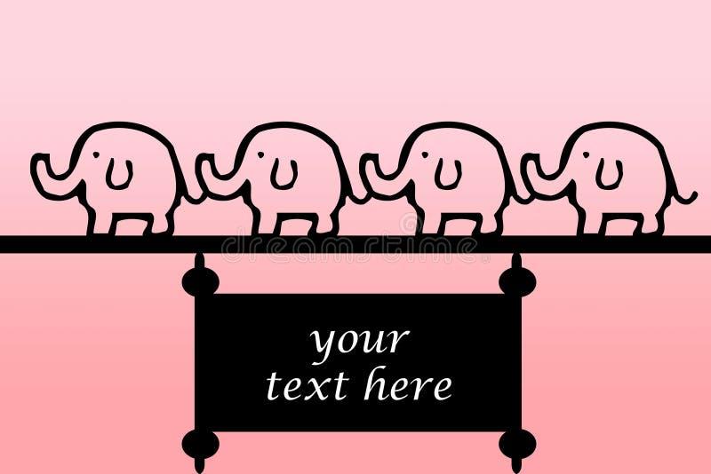 De banner van de olifant stock fotografie