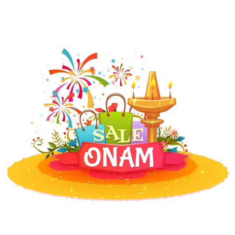 De banner van de Onamverkoop met lint Vector illustratie vector illustratie
