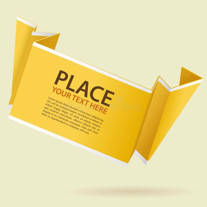 De Banner van de Origami van het document royalty-vrije illustratie