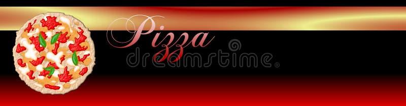 De Banner van de pizza royalty-vrije illustratie