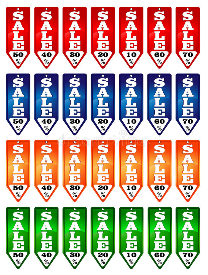 De Banner van de verkoop stock afbeelding