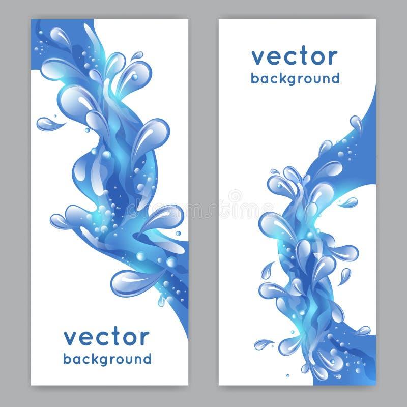De Banner van de waterplons stock illustratie