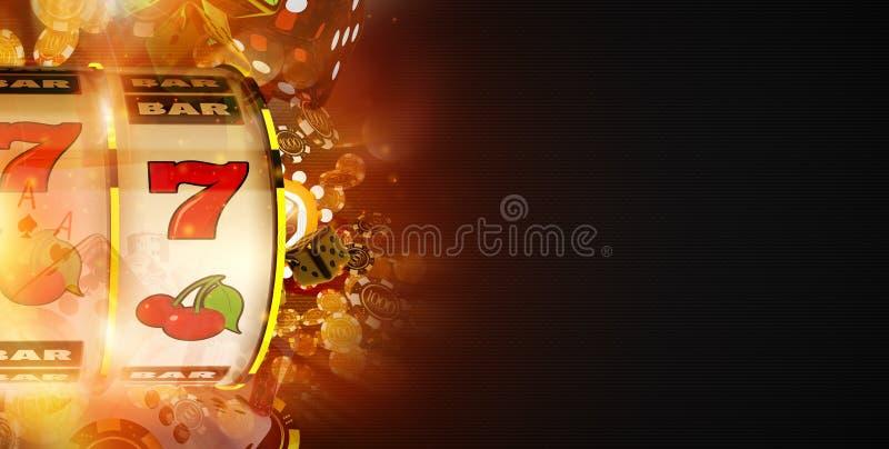 De Banner van de gokautomaatwinst stock illustratie